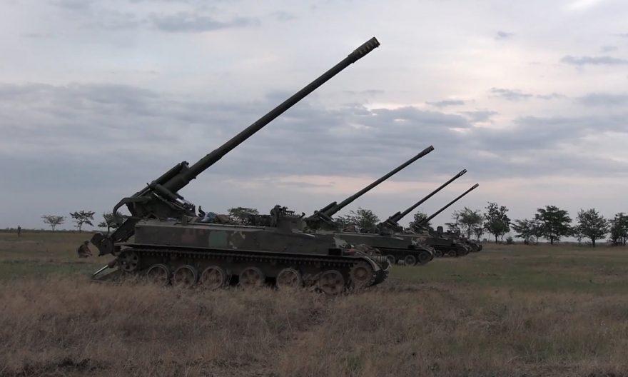 """Гаубиці """"Д-30"""" та САУ""""Гіацинт-С"""""""