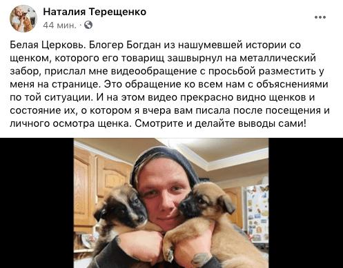 В жорстокому поводженні з тваринами помилково звинуватили білоцерківського блогера, фото-5