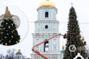 головна ялинка країни, оловна ялинка україни, встановили зірнк на ялинку